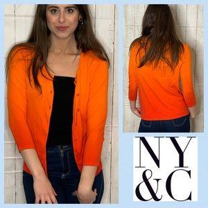NY&CO 7th Avenue Ombré Chelsea Cardigan SMALL